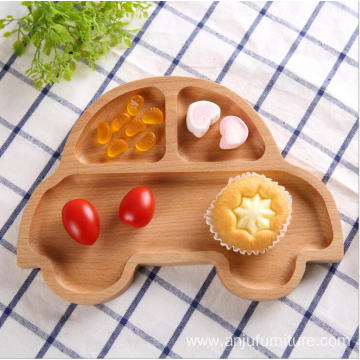 Bottom price for Wooden Food Trays European Unfinished natural fruit plate snacks candy wooden tray export to East Timor Wholesale