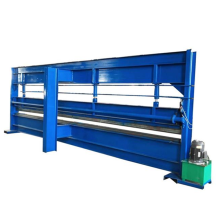 Metal roof panel bend roll forming machine