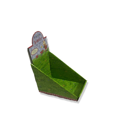 Foldable paper display box