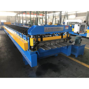 Trapezoidal roof tile machine