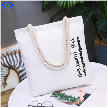 White practical sublimation cotton tote bag
