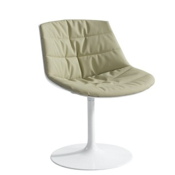 Modern leisure flow slim swivel dining chair
