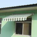 Retractable arms awning 2*1.5M Yellow and white