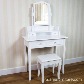 Mirror white furniture cheap dressing table
