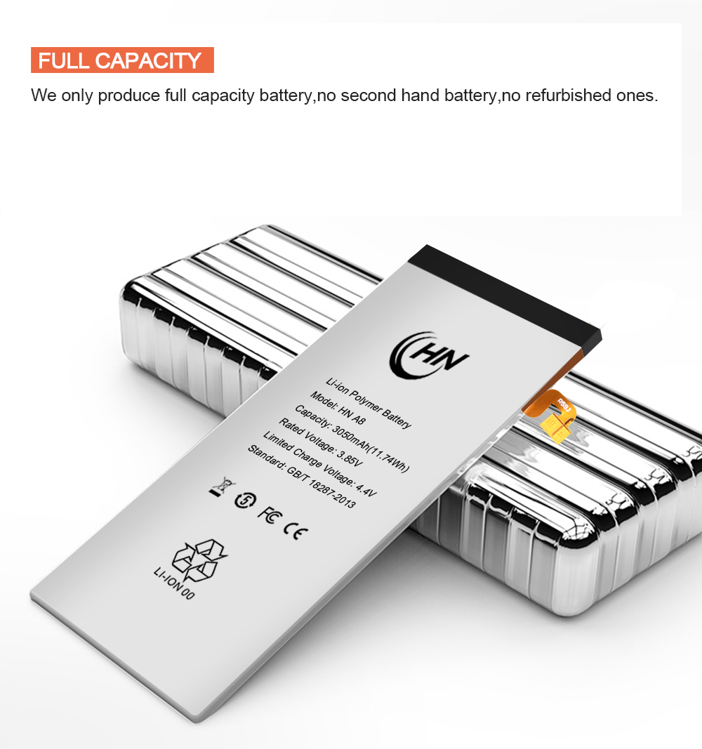 FULL CAPACITY a8 battery
