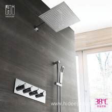 China Cheap price for Thermostatic Shower Faucet HIDEEP Chrome Full Copper Thermostatic Shower Faucet Set supply to Armenia Factories