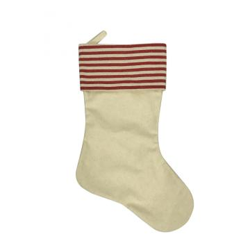 Red Striped Cuff Christmas  stocking