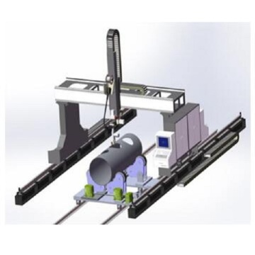 Gantry Cutting Robot of Intersecting Lines