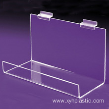 Large Clear Acrylic Shelf for Slatwall Custom
