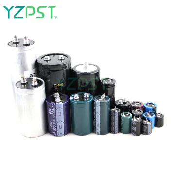 High temperature resistant large electrolytic capacitors