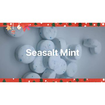 Fresh sea-salt flavor stevia sweetener stevia mints