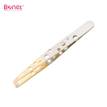 CE Certificated Gold-plated Stainless Steel Eyebrow Tweezer