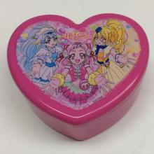 Plastic heart shaped jewelry box with mirror