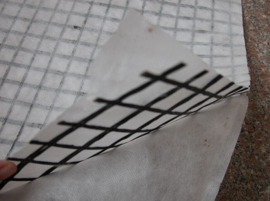 Fiberglass Geogrid Glued With Nonwoven Geotextile