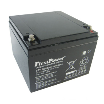 Solar Control Equipment Reserve Deep Cycle Battery 12V24AH