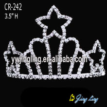"3.5"" Wholesale Patriotic Crown Cheap Star Tiaras"