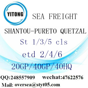 Shantou Port Sea Freight Shipping To Pureto Quetzal