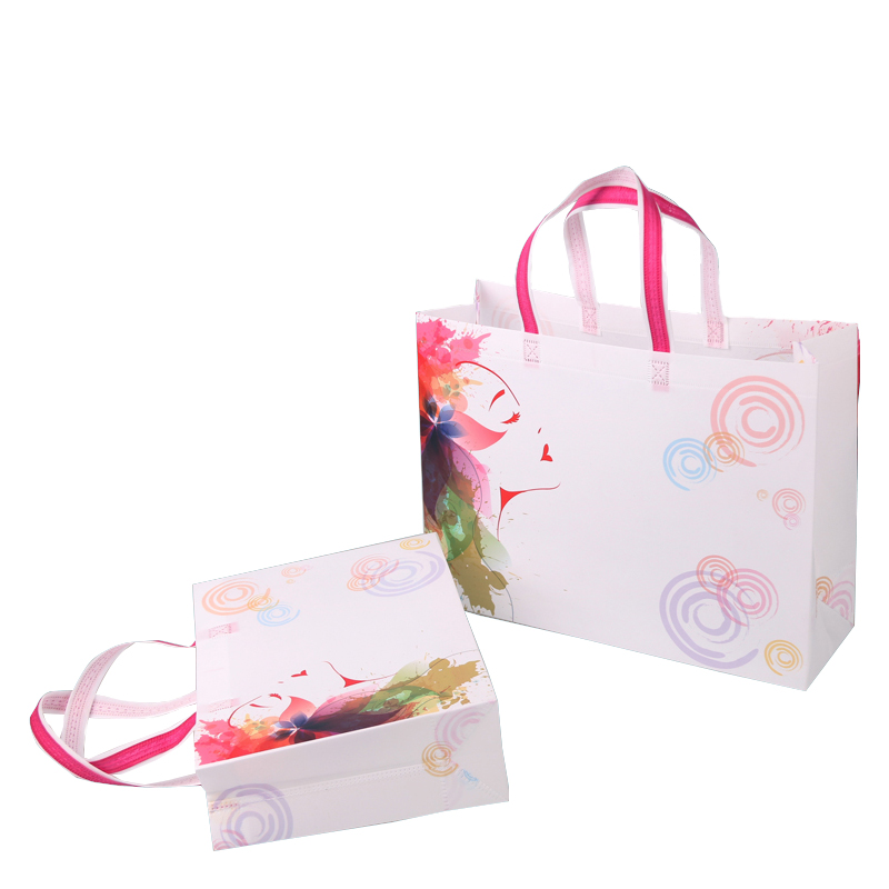 Pink Non Woven Bags