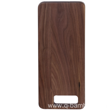 Rectangle walnut wood chopping board with portable hole