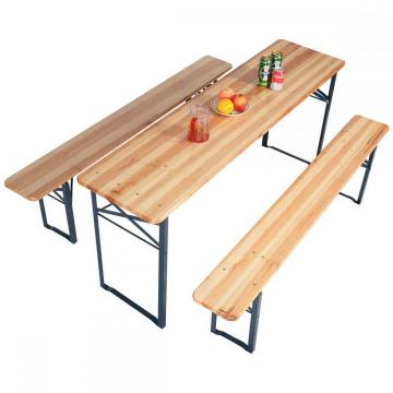 Foldable Wooden Table Set with Bench