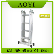 4 section aluminum folding ladder