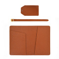 Saffiano Genuine Pu Leather Luggage Tag for Travel