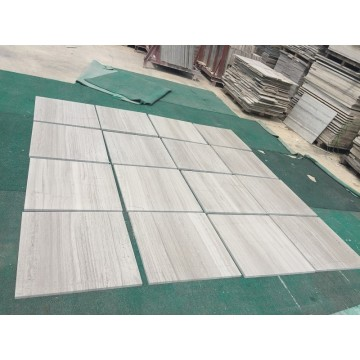 wooden white marble tile