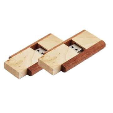 Wholesale Swivel Wooden Usb Flash Drive Pen Drive
