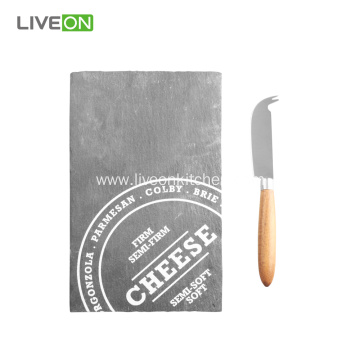 Cheese Knife With Slate Cutting Board