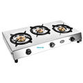 Sleek 3 Burner Stainless Steel Finish Cooktop