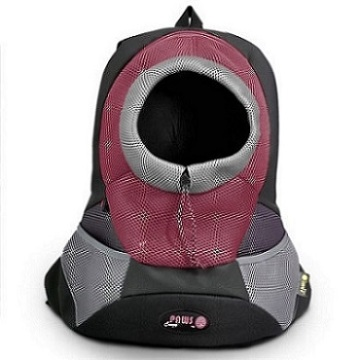 Black Large PVC and Mesh Pet Backpack
