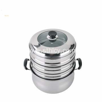 3 Layers Stainless Steel Steamer Professional Cooking Pot