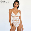 Lace & fancy mesh Bodysuit