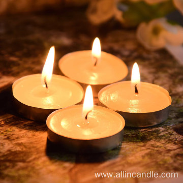 Scented 9g white tealight candles/candels