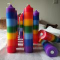 Art Handmade Dipped Taper Rainbow pillar Candles