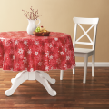 Tablecloth PE with Needle-punched Cotton Classic Snow Round