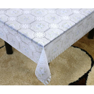 Printed pvc lace tablecloth by roll round