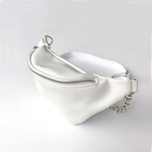 Womens White Leather Fanny Pack Waist Belt Bags