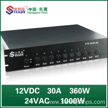 Rack-mounted 12V DC Power Supply