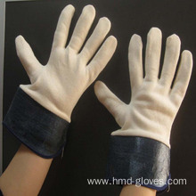 Top for Cotton Gloves men cow split leather working safety gloves export to Liechtenstein Factory
