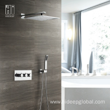 Best Quality for China Thermostatic Shower Faucet,Single Handle Thermostatic Shower Faucet,Bathroom Thermostatic Shower Faucet Supplier HIDEEP Thermostatic Two Function Shower Faucet Set supply to India Exporter
