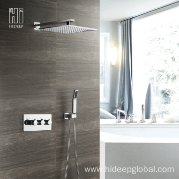 Supply for Thermostatic Shower Faucet HIDEEP Thermostatic Two Function Shower Faucet Set export to Armenia Manufacturer