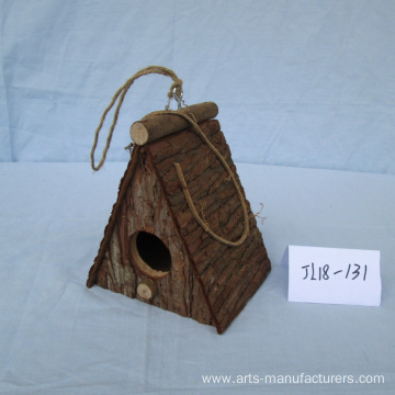 OEM/ODM Supplier for for China Wooden Bird House,Weaving Bird Cage,Wooden Bird Cage Manufacturer Handmade Wood Bark Bird House supply to United States Manufacturers