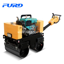 Good Quality for Vibrating Roller 800KG Walk Behind Double Drum Vibratory Roller supply to Tanzania Factories