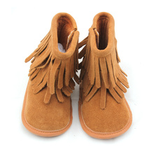 Customized for Warm Boots Baby Various Color Genuine Leather Kid Moccasins Winter Boots supply to Italy Factory