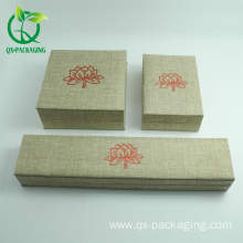 Custom cardboard wooden jewelry box for ring