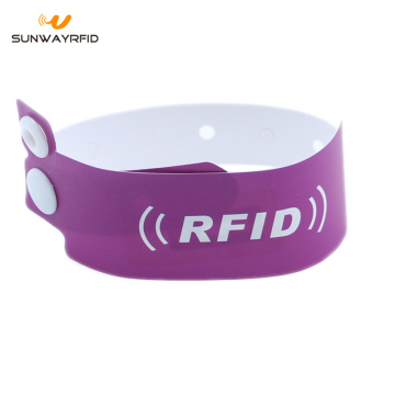13.56mhz F08 chip Paper Disposable RFID wristbands