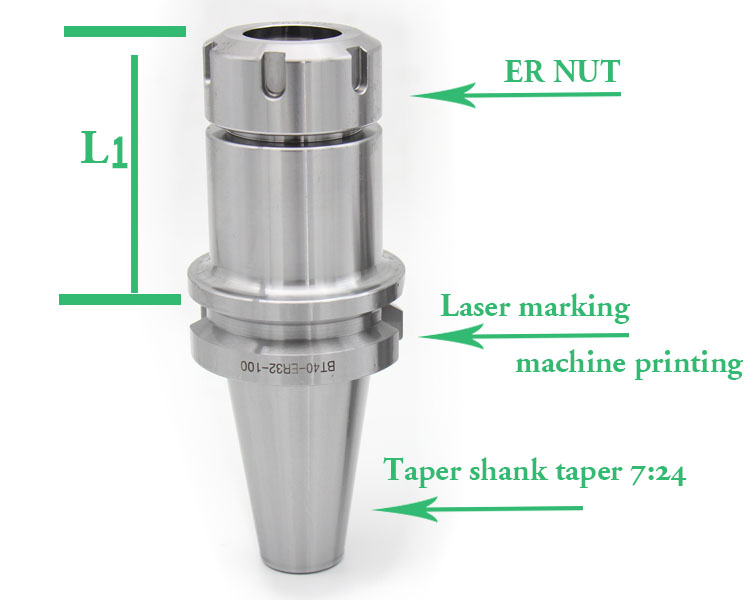 high quality lathe parts BT40 ER tool holder