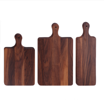 Rectangle walnut wood chopping board with handle