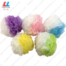 Wholesale Price for Mesh Bath Sponge Wholesales two side Sponge shower scrub supply to Netherlands Manufacturer
